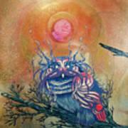 God King Owl Poster