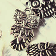 Owl Pendants. Charms Of Wisdom Poster