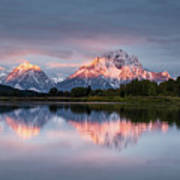 Oxbow Bend Sunrise Poster