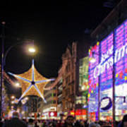 Oxford Street London At Christmas Poster