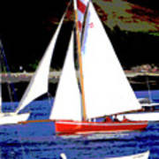 Oyster Boats Poster