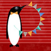 P Is For Penguin Poster