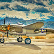 P38 Fly In Poster