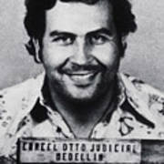 Pablo Escobar Mug Shot 1991 Vertical Poster