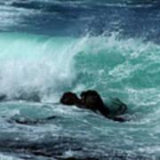 Pacific Coast Crashing Wave Photograph Poster