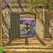 Pacific House Garden Watercorlors Poster