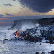 Pacific Lava Flow Poster by Dave Fleetham - Printscapes