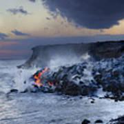 Pacific Lava Flow Poster