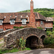 Packhorse Bridge At Allerford Poster