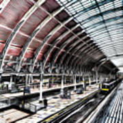 Paddington Station London Sketch Poster
