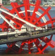 Paddlewheel At Rest Poster