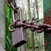 Padlocked Gate Poster