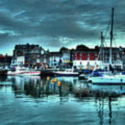 Padstow Harbour At Dusk Poster