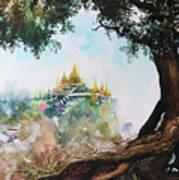 Pagoda On Mountain Poster
