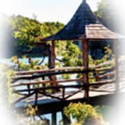 Pagoda Over The Lake Poster