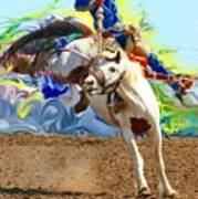 Paint Bucking Horse ... Montana Art Photo Poster