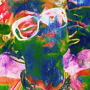 Paint Splash Pinup Art Poster