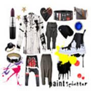 Paint Splatter Poster