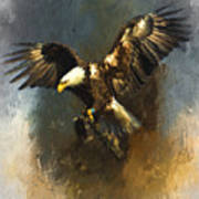 Painted Eagle Poster