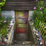 Painted Garden Door Poster
