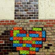 Painted Heart 2  Vienna Austria Poster