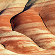 Painted Hills Stripes Poster