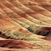 Painted Hills Textures Poster