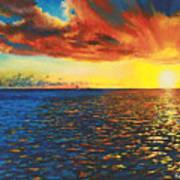 Painted Horizon Poster
