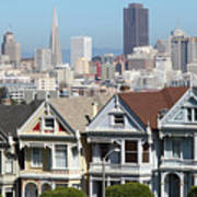 Painted Ladies Of Alamo Square San Francisco California 5d27996v2 Poster