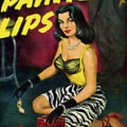 Painted Lips Poster