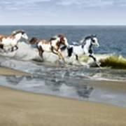 Painted Ocean Poster