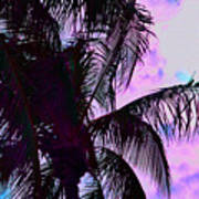 Painted Palms 4 Poster