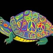 Painted Peace Turtle Too Poster