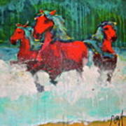 Painted Ponies -surf Run Poster
