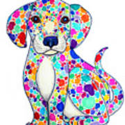 Painted Puppy Poster