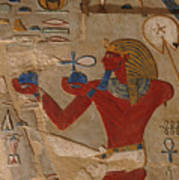 Painted Relief Of Thutmosis IIi Poster by Kenneth Garrett