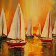 Painted Sails Poster