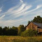 Painted Sky Barn Poster by Benanne Stiens