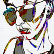 Painted Sunglasses Poster