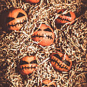 painted tangerines for Halloween Poster