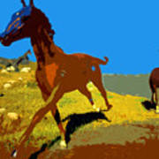 Painted War Horses Poster