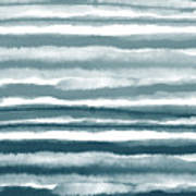 Painterly Beach Stripe 1- Art By Linda Woods Poster