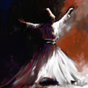 Painting 716 1 Sufi Whirl II Poster