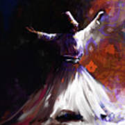 Painting 716 2 Sufi Whirl 2 Poster