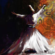 Painting 716 3 Sufi Whirl 2 Poster