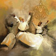 Painting 717 2 Sufi Whirl 3 Poster