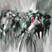 Painting 787 4 Buzkashi Poster
