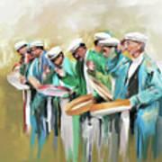 Painting 800 1 Hunzai Musicians Poster
