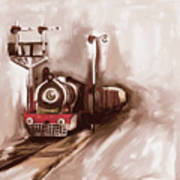 Painting 801 3 Steam Engine Poster