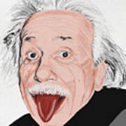 Painting Of Albert Einstein Poster by Setsiri Silapasuwanchai